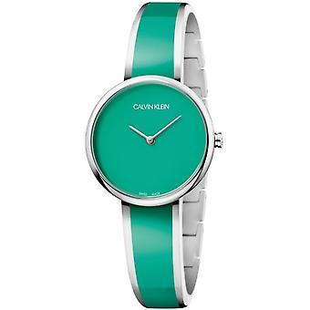 Calvin Klein Seduce vihreä Dial vihreä ruostumaton teräs ranne koru naisten katsella K4E2N11L 30mm