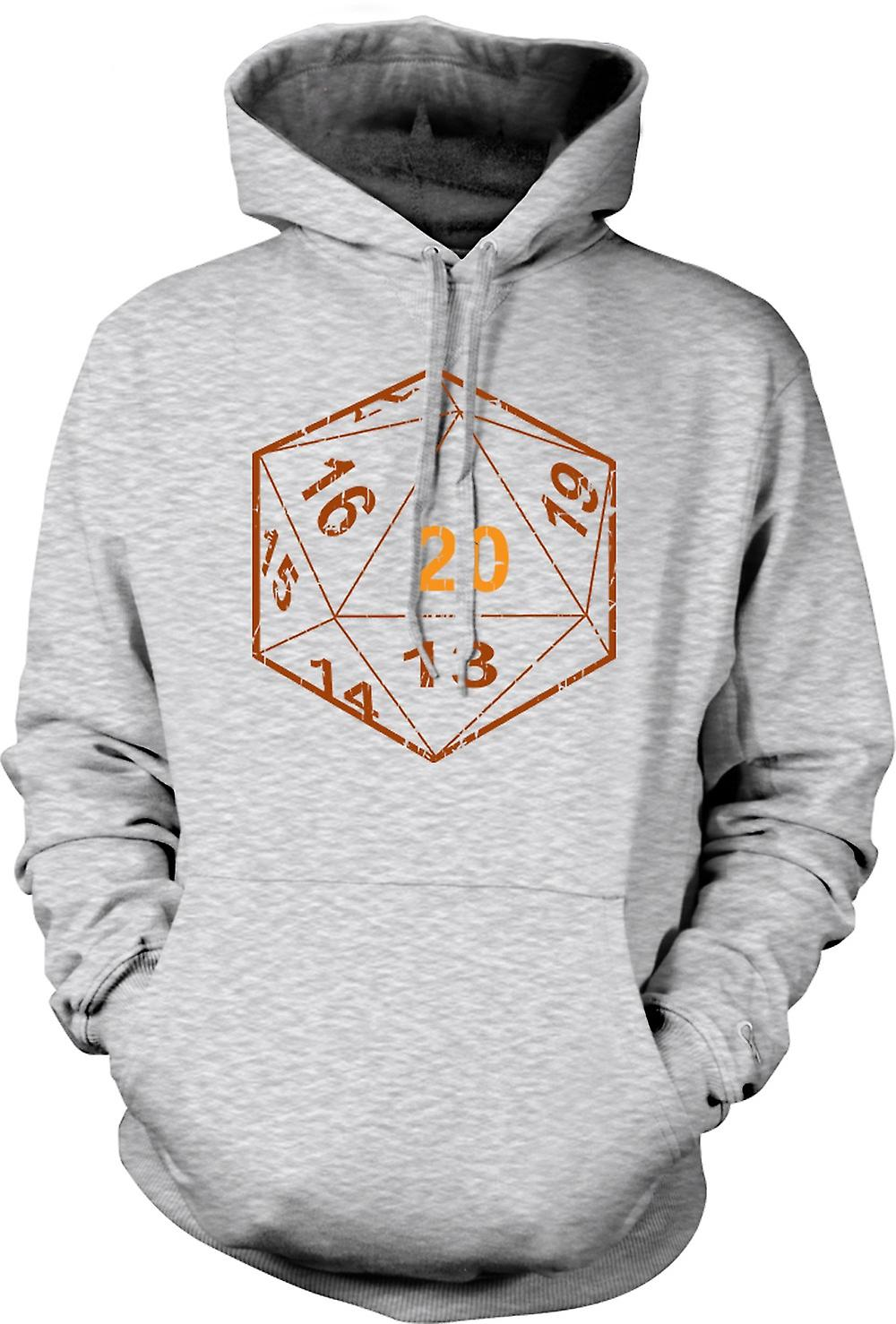 Mens Hoodie - Dungeons And Dragons D20 Dice - Gamer