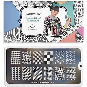 MoYou London Nail Art Image Plate - Fashionista 09 (MPFAS09)