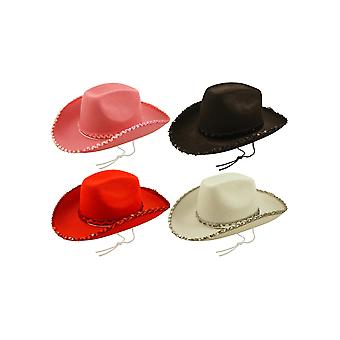 Felt Cowboy Hat with Sequin Trim