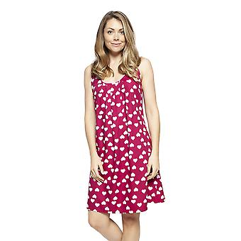 Cyberjammies 4221 Women's Susie Cherry Red Heart Print Cotton Chemise