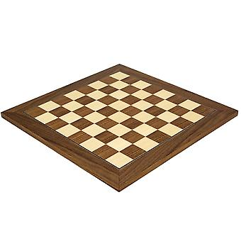 15.75 Inch Walnut and Maple Deluxe Chess Board