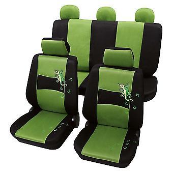 Stilfuld grøn & sort bil sædebetræk til Hyundai Lantra MK2 1995-2000