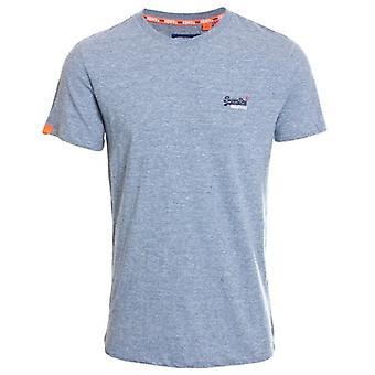 Superdry Orange Label Vintage Broderie T-shirt Creek Blue Grit Grindle