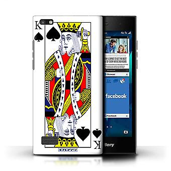 STUFF4 Case/Cover for Blackberry Leap/King of Spades/Playing Cards