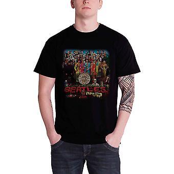 The Beatles T Shirt Classic Sgt Pepper Drum Band Logo nouveau noir officiel pour hommes