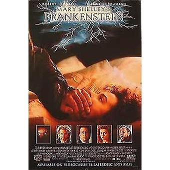 Mary Shelley's Frankenstein (Single Sided Video) (1994) Original Video Poster