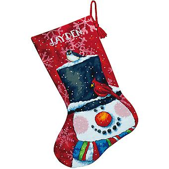 Snowman And Friends Stocking Needlepoint Kit 16