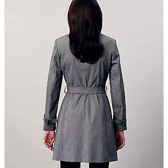 Misses' Coat And Belt  14  16  18  20  22 Pattern V8884  E50