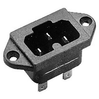 Hot wire connector C16A Series (mains connectors) 771 Plug, vertical mount