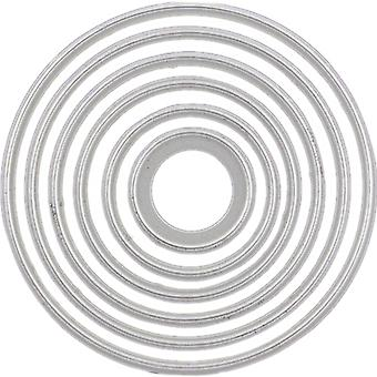 Cheery Lynn Designs Die-cercle classique Sm Silver Stacker couches CLM4