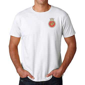 HMS Protector Embroidered logo - Official Royal Navy Cotton T Shirt