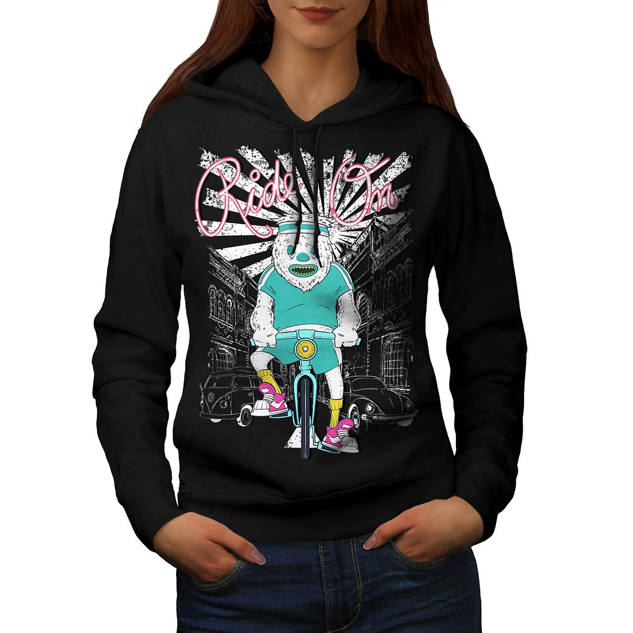 Ride sur Monster moto Cycle ville femme Black Hoodie | Wellcoda
