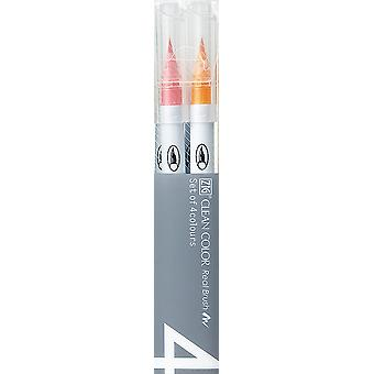 Zig Clean Color Real Brush Markers 4/Pkg-Deep RB60004V-D