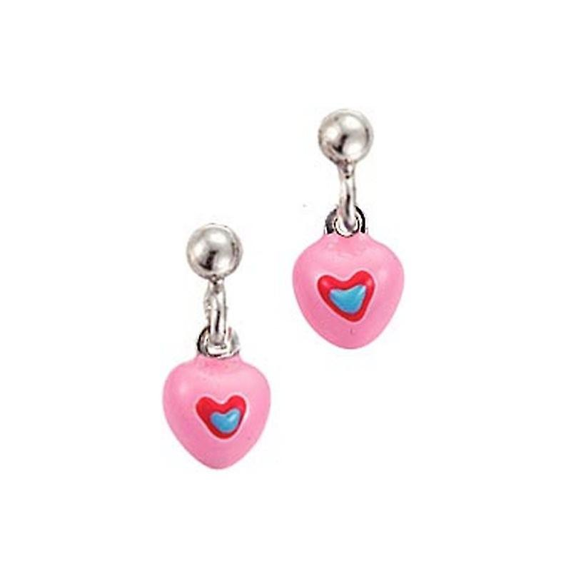 Scout Children earrings Stecher silver heart pink blue girl 262104100