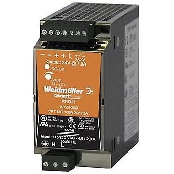 Rail mounted PSU (DIN) Weidmüller CP T SNT 180W 24V 7,5A 24 Vdc 7.5 A 180 W 1 x