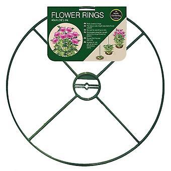 40cm (16 inch) Pack van 2 bloem Plant ringen hoogte verstelbaar bloem ondersteuning