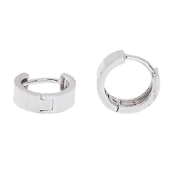 Sterling 925 Silver hoop earrings - DIAMONT CUT 9 mm