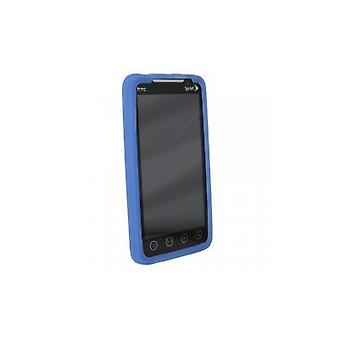 Sprint - Silicon Sleeve Case with Kickstand Opening for HTC EVO 4G - Blue