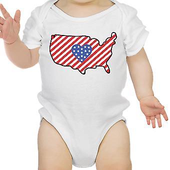 USA-Karte niedlich 4. Juli dekorative niedlichen Baby Bodysuit neue Mutter Geschenke