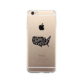 أنا أحب حالة الهاتف واضح الولايات المتحدة الأمريكية