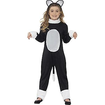 Costume cool cat with one piece tail and head size M
