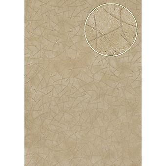Graphic wallpaper Atlas STI-5106-2 non-woven wallpaper minted in coat patterns, shimmering beige bright ivory cappuccino perl-beige 7,035 m2