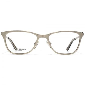 Kurt Geiger Ava Flat Sheet Glasses In Silver