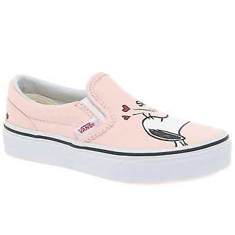 Vans Peanuts Smack Girls Youth Slip On Canvas Shoes