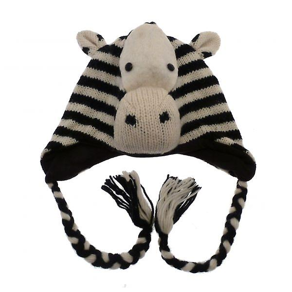 W.A.T Knitted Zebra Woollen Animal Hat