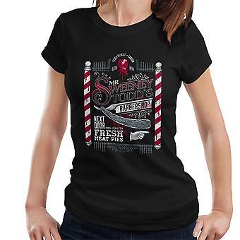 Demon Barber Señor Sweeney Todd Barbers camiseta Shop mujer