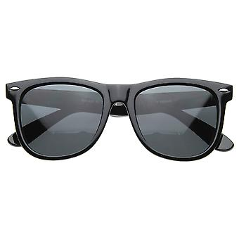 Large 55mm Polarized Lens Anti Glare Classic Horn Rimmed Style Sunglasses