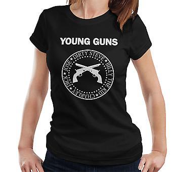 Young Guns Ramones Logo Damen T-Shirt