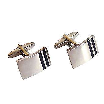 Men's cuff links stainless steel wedding cufflinks silver black men's jewellery