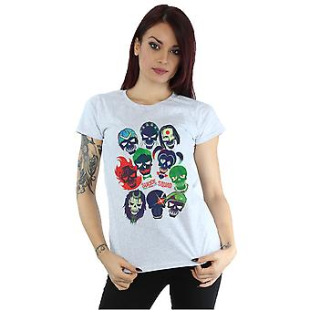 Suicide Squad Women's Band of Skulls Filled T-Shirt