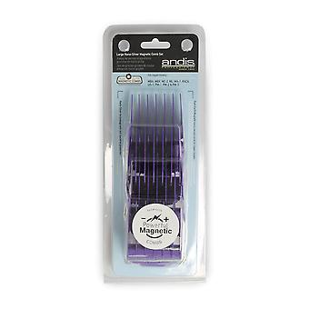 Andis Large Nano-Silver Magnetic Comb Set #66320
