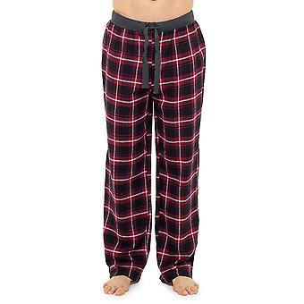 Foxbury Mens Plaid Check Pyjama Bottoms Lounge Wear Pants