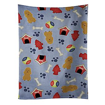 Carolines Treasures  BB2682KTWL Dog House Collection Poodle Tan Kitchen Towel