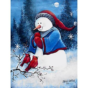 Ciao inverno gli amici del pupazzo di neve bandiera Canvas casa dimensione