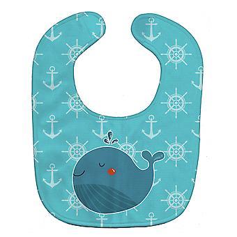 Carolines Treasures  BB6734BIB Blue Whale Baby Bib