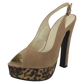 Spot damskie na wysokim obcasie Open Toe buty pleców procy