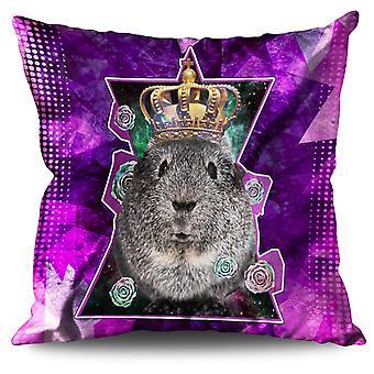 Hamster King Beast Animal Linen Cushion Hamster King Beast Animal | Wellcoda