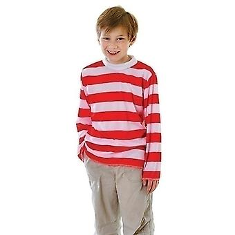 Red/White Striped Top (M)