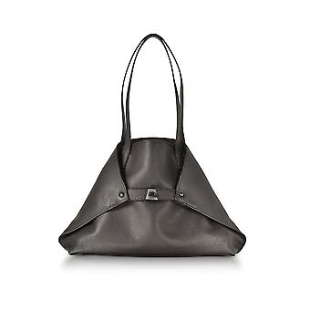 Akris women's 10AC1005RS900049 brown leather tote