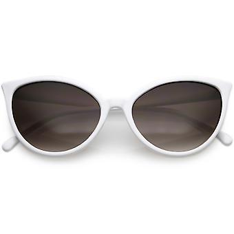 Unika Cat Eye solglasögon Slim Frame runda neutralt färgade Gradient Lens 54mm