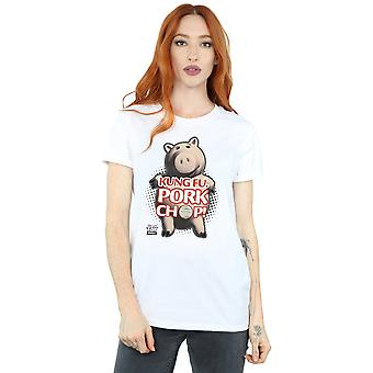 Disney Women's Toy Story Kung Fu Pork Chop Boyfriend Fit T-Shirt