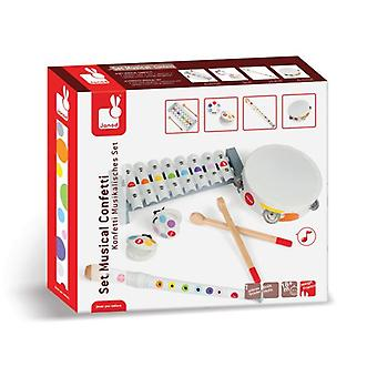 Janod Musical Instrument Set 'Confetti' 18m+
