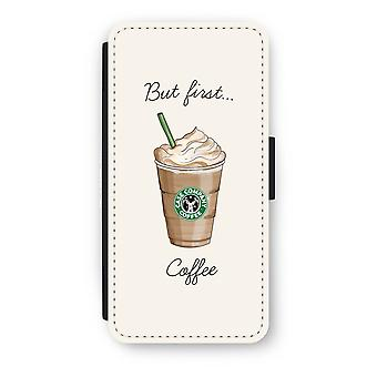 iPhone 8 Flip Case - But first coffee