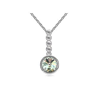 Circle pendant adorned with crystal by Swarovski White and White Gold Plated