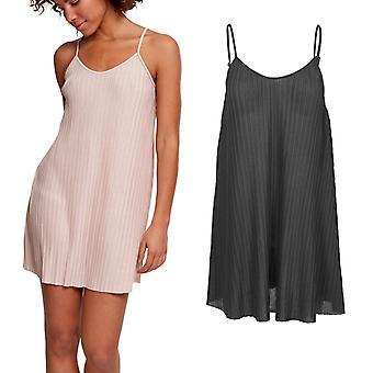 Urban classics Ladies - Jersey pleated slip dress